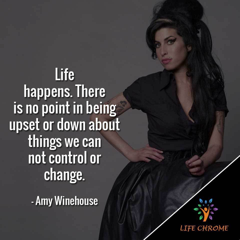 There is no point in being upset or down about things we can't control or change.