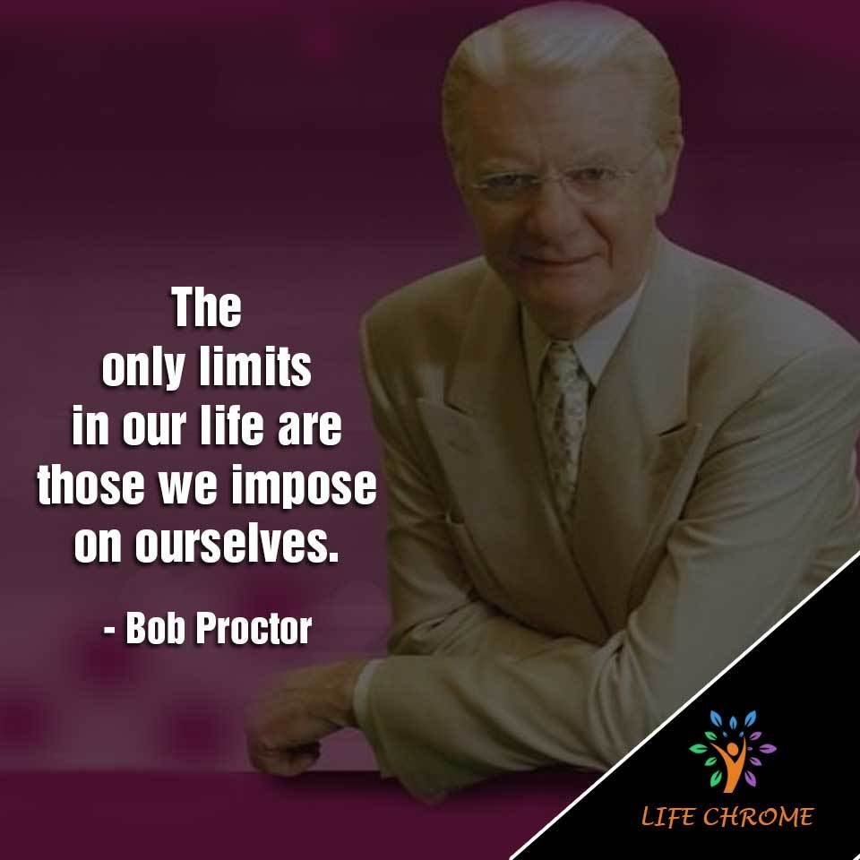 we impose on ourselves.