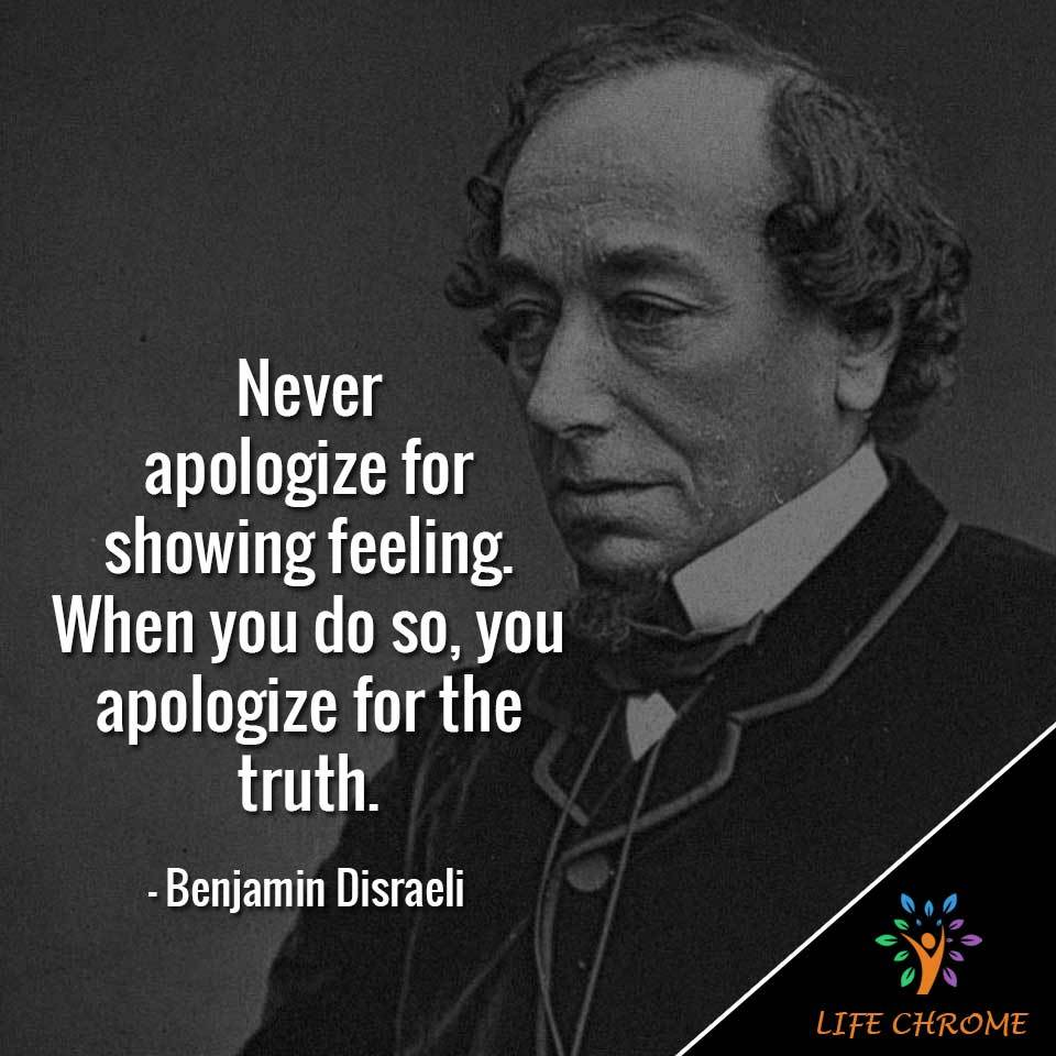 Never apologize for showing