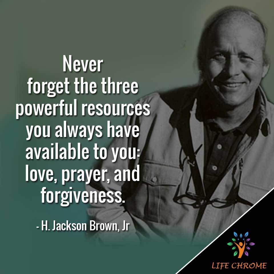 Never forget the three powerful resources you always